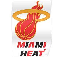 Gold Miami Heat Poster