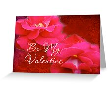 Valentine's Day Greeting Card - Romance and Red Roses Greeting Card