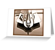 1955 Cadillac Hood Ornament Greeting Card