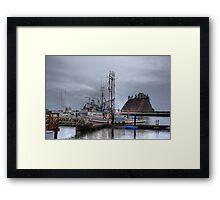 Misty harbour Framed Print