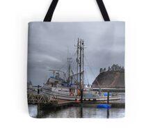 Misty harbour Tote Bag