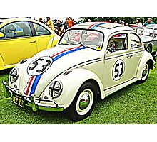 HERBIE The LOVE BUG Photographic Print