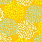 Chrysanthemums in Yellow by Leona Hussey