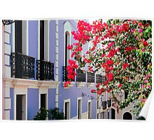 Colorful Balconies of Old San Juan, Puerto Rico Poster
