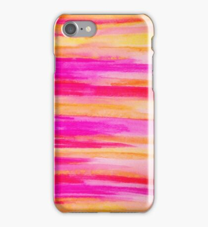 Welcome to Funky Town - Disco Inferno Dance Rainbow Stripes Abstract Watercolor Painting iPhone Case/Skin