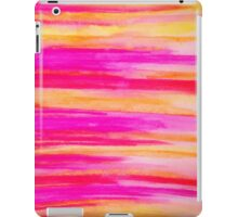 Welcome to Funky Town - Disco Inferno Dance Rainbow Stripes Abstract Watercolor Painting iPad Case/Skin