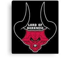 Lord of Darkness on Black Canvas Print