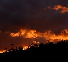 Images of Australia - Firey sunset by Gerry Pearce