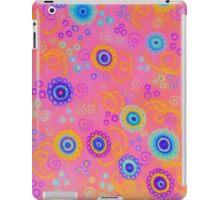 RASPBERRY FIZZ - Sweet Pink Fruity Candy Swirls Abstract Watercolor Painting Bright Feminine Art iPad Case/Skin