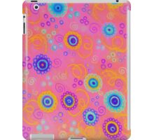 RASPBERRY FIZZ - Sweet Pink Fruity Candy Swirls Abstract Watercolor Painting Bright Feminine Art iPad Case/Skin