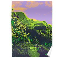 Kauluwela Moku 24 Tropical Island Color Graphic Art Poster