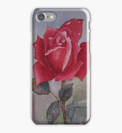 For love of a Red Rose iPhone Case/Skin