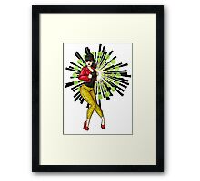 Rockabilly Girl With Leopard Print Pants Framed Print