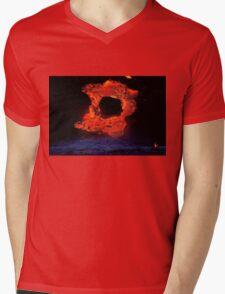 Lava Flow at Kalapana 4 Mens V-Neck T-Shirt