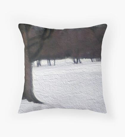 Midwest Winter Throw Pillow