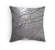 White and calm... Throw Pillow