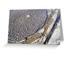Rock Art- by original beachscapes Greeting Card