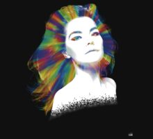 Beautiful Bjork Rainbow Colour with white print by portiswood