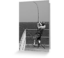 hooked a big one... Greeting Card