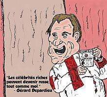 Gérard Depardieu caricature d'un célébrité russe by Binary-Options