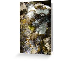 River Art- by original beachscapes Greeting Card