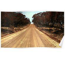 Typical road, Kangaroo Island Poster
