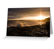 Sunset West Greeting Card