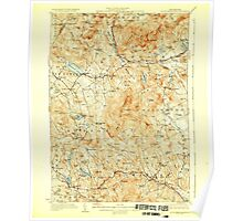 USGS TOPO Map New Hampshire NH Mount Kearsarge 330201 1928 62500 Poster