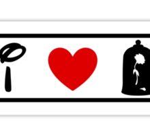 I Heart Beauty and The Beast (Classic Logo) Sticker