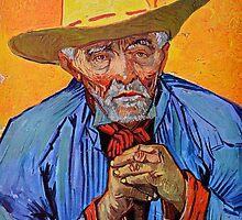 Old Provençal Peasant by Van Gogh by John Tidball