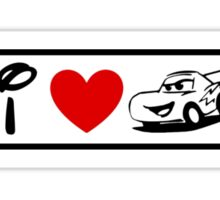 I Heart Cars Land (Classic Logo) Sticker