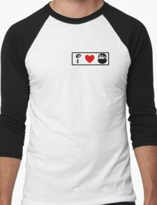 I Heart Haunted Mansion (Classic Logo) Men's Baseball ¾ T-Shirt