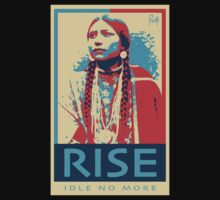 RISE - Idle No More - by Aaron Paquette Kids Tee