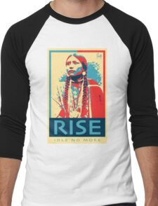 RISE - Idle No More - by Aaron Paquette Men's Baseball ¾ T-Shirt