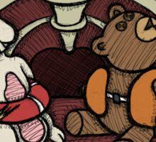 Teddy Bear And Bunny - Hard To Swallow Sticker