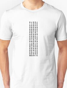 Pi to 100 places (upside down) T-Shirt