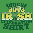 Official 2012 Irish celebration shirt by jazzydevil