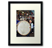 Willie and the Lambeg Drum Framed Print