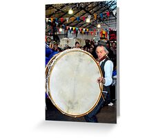 Willie and the Lambeg Drum Greeting Card