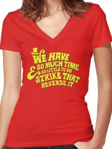 Strike That... Reverse It Women's Fitted V-Neck T-Shirt