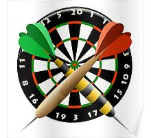 The dartboard Poster