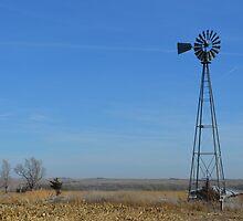 Prairie Windmill by RenieRutten