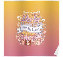 1D Perfect Lyric Art Poster