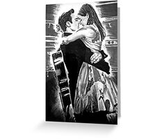 Walk The Line Greeting Card