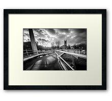 Derby Cathedral Footbridge Framed Print