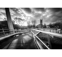 Derby Cathedral Footbridge Photographic Print
