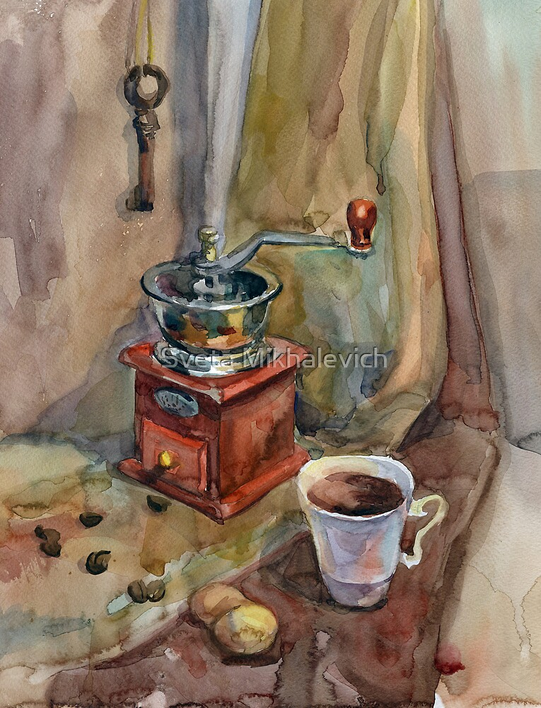 Still life with coffee grinder by Svetlana Mikhalevich