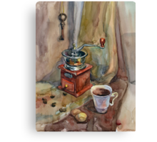 Still life with coffee grinder Canvas Print
