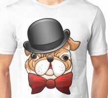 Bulldog in a bowler hat Unisex T-Shirt
