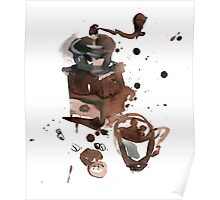 Still life with coffee grinder Poster
